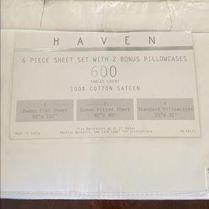🛏 Haven Queen 6 pc sheet set